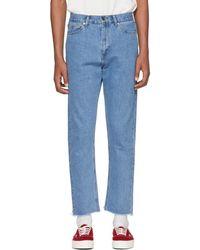 Second/Layer - Blue Raw Hem Jeans - Lyst