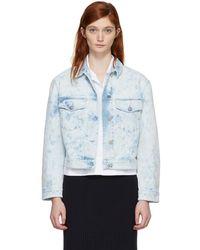 Stella McCartney - Blue Splatter Denim Jacket - Lyst