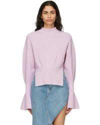 Alexander Wang Purple Engineered Rib Sweater