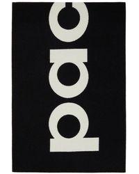 Paco Rabanne ブラック & ホワイト ロゴ マフラー