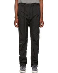Fear Of God Pantalon de survetement en nylon noir Baggy