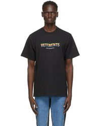 Vetements Black 'think Differently' T-shirt