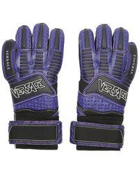 Versace Gants a logo mauves - Violet