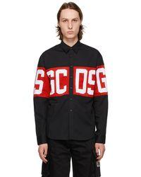 Gcds ブラック ロゴ シャツ