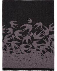 McQ - Black And Pink Swallows Degrade Scarf - Lyst