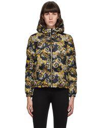 Versace Jeans Couture リバーシブル ブラック Barocco ロゴ ジャケット