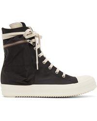 Rick Owens Drkshdw Black Cargo High Sneakers