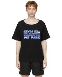 Stolen Girlfriends Club Ssense Exclusive Black Chrome Dreams T-shirt