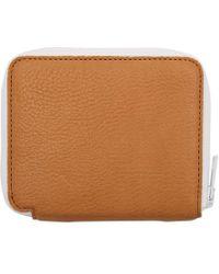 Marni - Brown And White Zip Around Wallet - Lyst