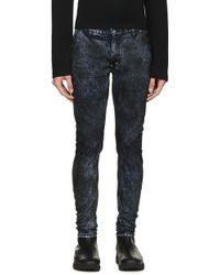 Diet Butcher Slim Skin - Blue & Black Mottled Jeans - Lyst
