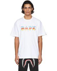 A Bathing Ape ホワイト ロゴ T シャツ