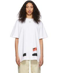 Off-White c/o Virgil Abloh Ssense Exclusive White Diag Spray Paint T-shirt