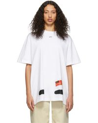 Off-White c/o Virgil Abloh Ssense Exclusive White Diag Spray Paint T-shirt