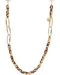 Chloé Gold & Tortoiseshell Eyewear Chain - Metallic