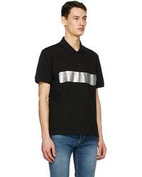 Givenchy ブラック Latex ロゴ ポロシャツ