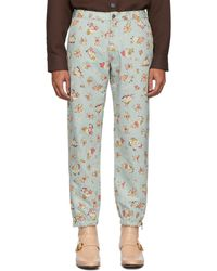 Gucci Blue Printed Washed Jeans