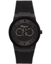 Ferragamo ブラック Sapphire 腕時計