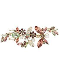 Erdem Crystal Embellished Floral Brooch - Multicolor