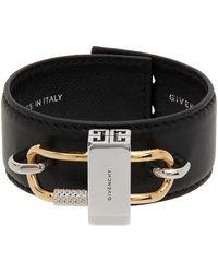 Givenchy ブラック レザー ブレスレット