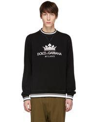 Dolce & Gabbana   Black Crown Sweatshirt   Lyst