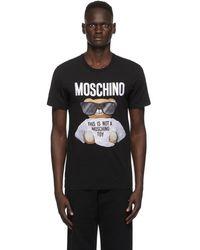 Moschino - ブラック Micro Teddy Bear T シャツ - Lyst