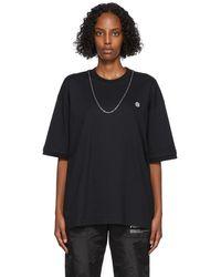 Ambush ブラック Chain Collar T シャツ