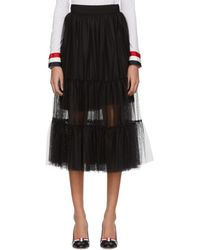 Moncler Gamme Rouge - Black Tulle Skirt - Lyst
