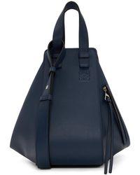 Loewe - Navy Small Hammock Bag - Lyst