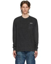 Neighborhood - Black Id Logo Pocket Long Sleeve T-shirt - Lyst