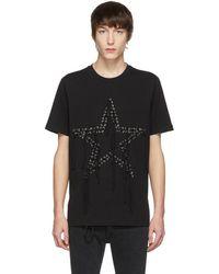 DIESEL - Black T-rio Eyelets Star T-shirt - Lyst