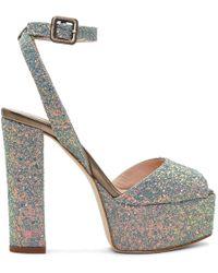 Giuseppe Zanotti - Grey Glitter Lavinia Platform Sandals - Lyst
