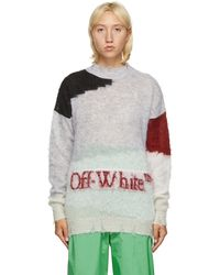 Off-White c/o Virgil Abloh - グレー Punked セーター - Lyst