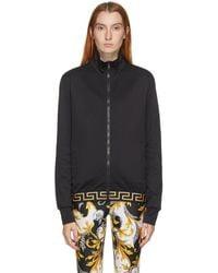 Versace ブラック メドゥーサ ジップ フーディ