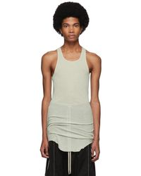 f836175be7b25 Lyst - Rick Owens White Ribbed Tank Top in White for Men