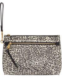 COACH Keith Haring エディション ブラック & ホワイト Mickey ポーチ