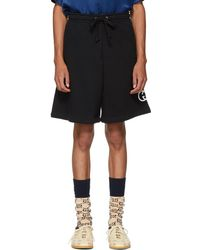 Gucci - Black Logo Lounge Shorts - Lyst