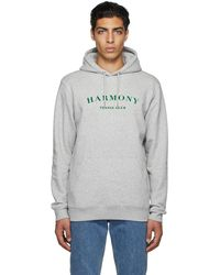 Harmony Pull à capuche tennis club arc à poche kangourou - Gris