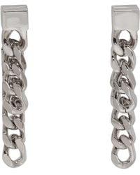 Jil Sander - Silver Essentiel 3 Chain Earrings - Lyst
