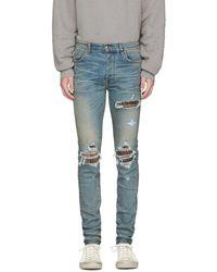 Amiri Indigo Animal Print Mx1 Jeans - Blue
