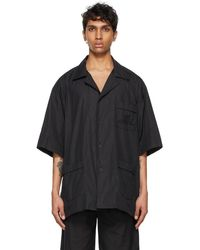 Balenciaga Black Pajama Short Sleeve Shirt