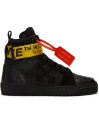 cc7fab184b32a Off-White c/o Virgil Abloh Off-white Black Industrial Hi Top Sneakers