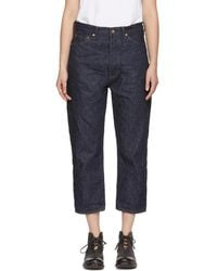 Chimala - Indigo Wide Tapered Selvedge Denim Jeans - Lyst