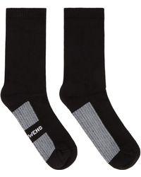 Rick Owens Chaussettes Noires À Logo - Black