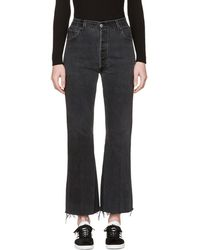 RE/DONE - Black The Leandra Jeans - Lyst