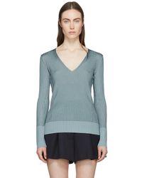 Rag & Bone - Blue Alyssa V-neck Sweater - Lyst