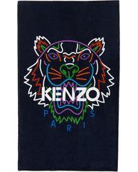 KENZO Navy Tiger Beach Towel - Blue