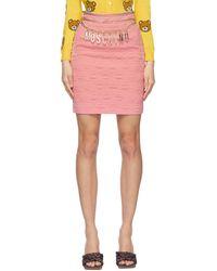 Moschino Pink Smiley© Edition Crêpe Miniskirt