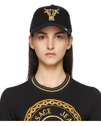 Versace Jeans Couture ブラック ベースボール キャップ