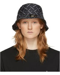Marcelo Burlon Black Starter Black Label Edition Logo Bucket Hat
