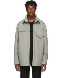 Wooyoungmi Gray Overshirt Jacket